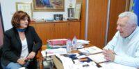 Με τους Δημάρχους της Νάουσας και της Αλεξάνδρειας για ζητήματα των δυο δήμων, συναντήθηκε η Βουλευτής Φρόσω Καρασαρλίδου